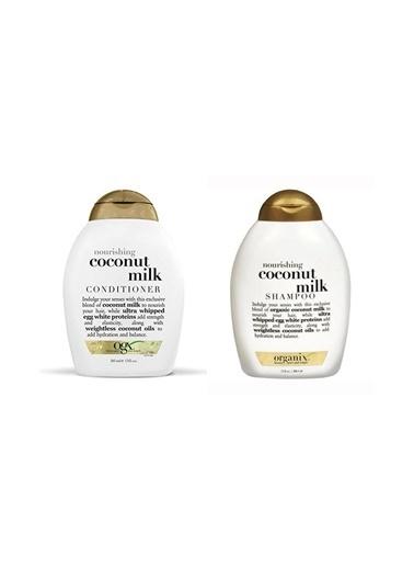 Organix Organix Coconut Milk Şampuan 385 Ml +Saç Kremi 385 Ml Renksiz